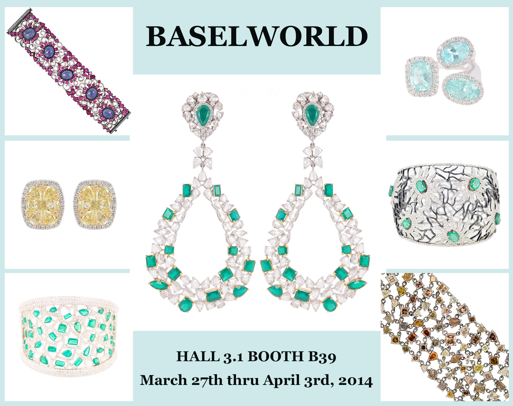 Make sure you come and see our newest collections at Baselworld!