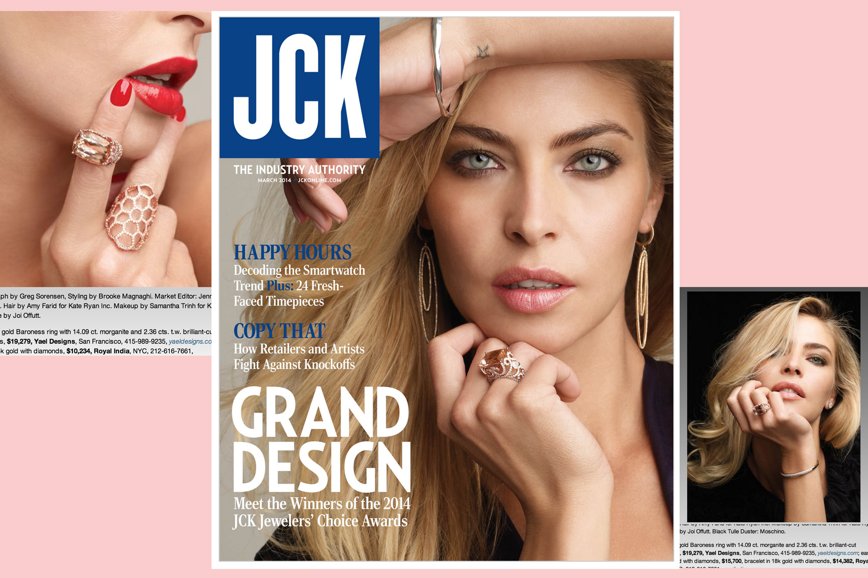 Check out our featured jewelry in the latest issue of JCK Magazine.