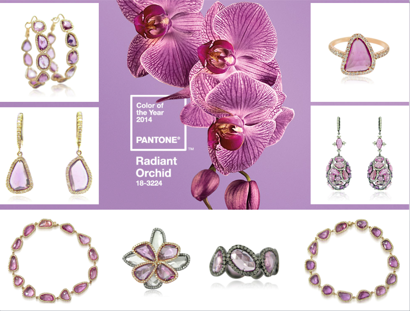 Radiant Orchid, the color of 2014, from Royal India in Sapphire Slices